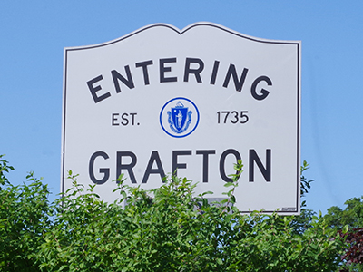 Grafton city limits sign